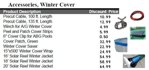 Winter Cover Accessories Quality Pools Amp Spas By Dick Mackey